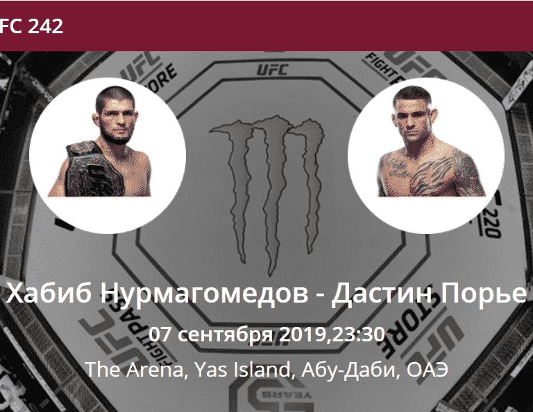 прогноз на бой Хабиб Нурмагомедов - Дастин Порье UFC 242
