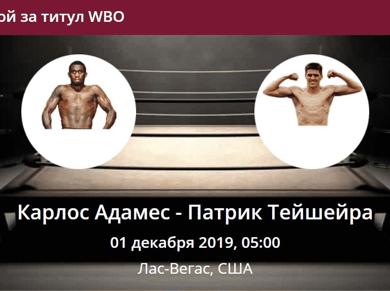 Карлос Адамес Патрик Тейшейра прогноз на бой за титул WBO