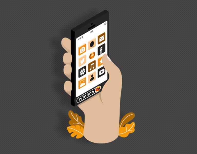 Интерфейс мобильного приложения БК Винлайн.